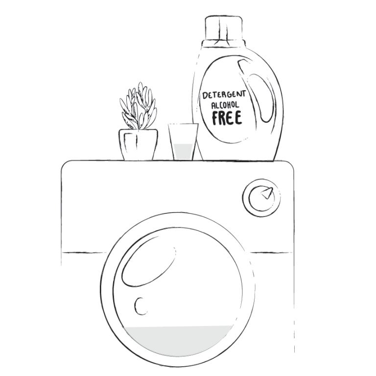 Выберите деликатный цикл в меню машинки